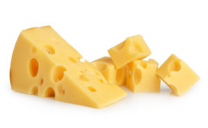 pieces of swiss cheese